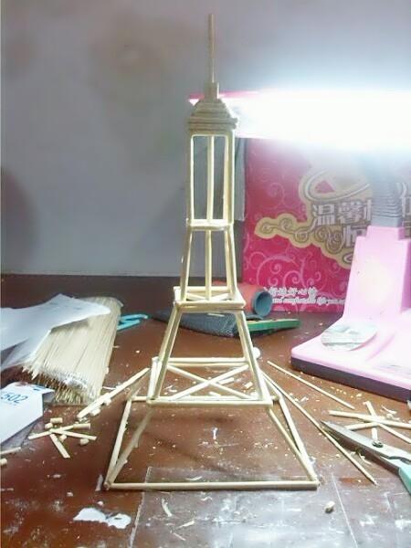 求手工制作埃菲尔铁塔的图纸(简单点的)
