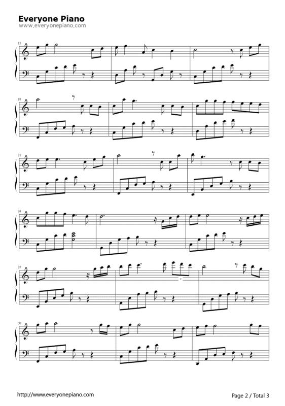 先给你kiss the rain简谱吧: 给你发完雨的印记钢琴谱外,多送你一项