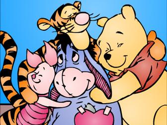 41209 专题:小熊维尼画板小熊 游戏介绍:小熊维尼的身边,有一堆可爱的