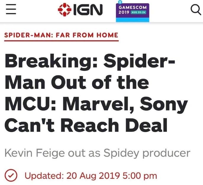 荷兰弟或将不再出演蜘蛛侠,因漫威和索尼分手,钱是关键问题