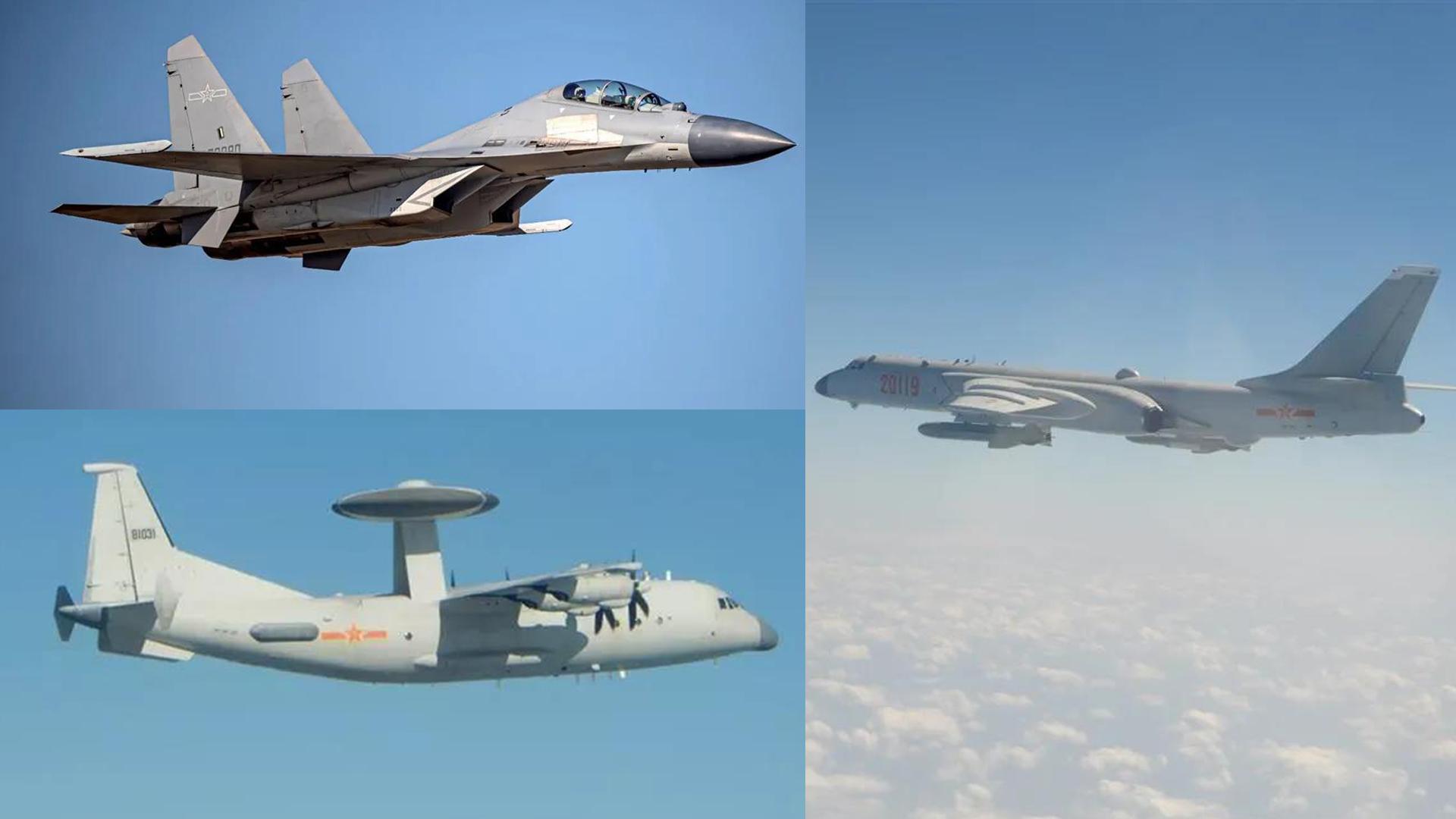 25架集群出动 解放军战机最大规模巡飞台湾岛!
