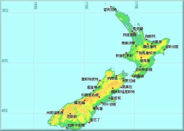 新西兰北岛旅游地图_新西兰北岛旅游攻略