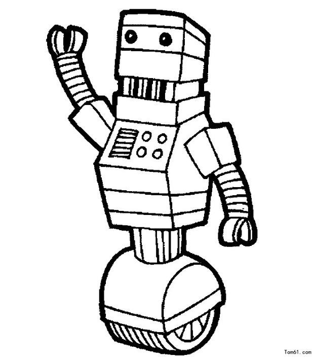 科幻图片机器人怎么画