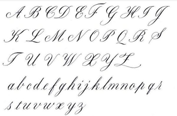 26个英文字母的花体字