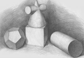 素描几何图形有多少种,越多越好 你好,以下是素描几何形体 三棱锥图片
