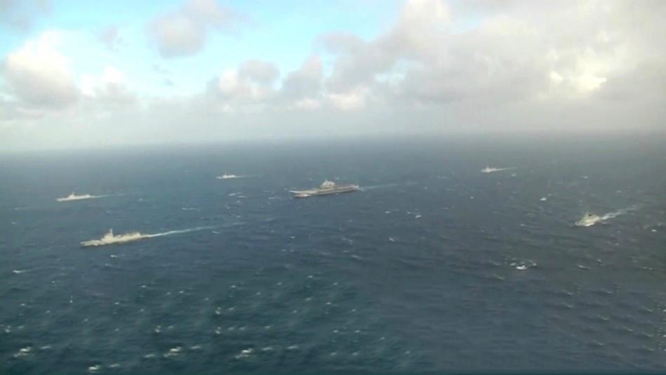 太平洋不只有美海军!辽宁号航母编队震撼亮相 - 新知 - 新知