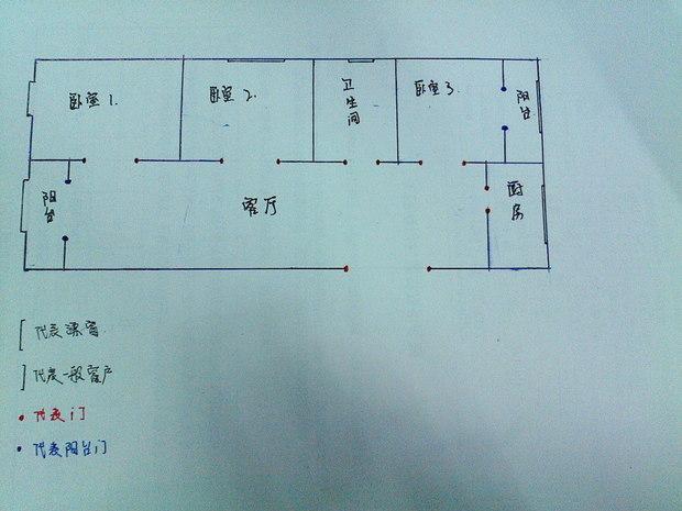 120平米长方形户型图