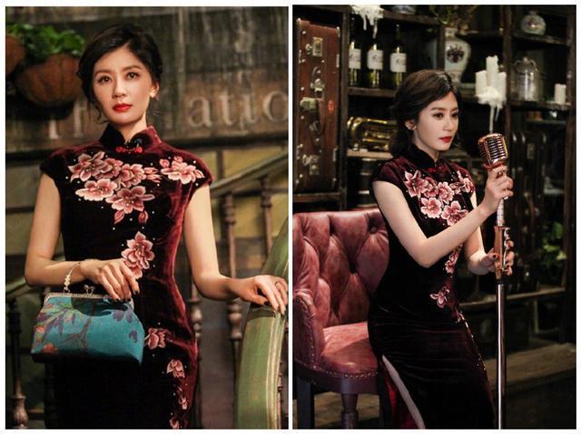 44岁贾静雯与35岁韩雪同穿旗袍现身,一个冻龄温婉一个