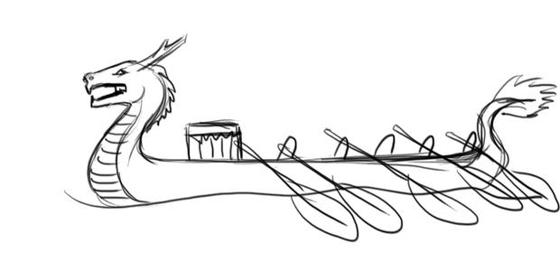 龙舟怎么画图片 简笔画