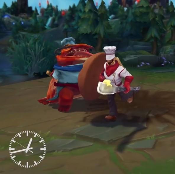 《英雄联盟》lol潘森新皮肤曝光 战争之王变身面包师
