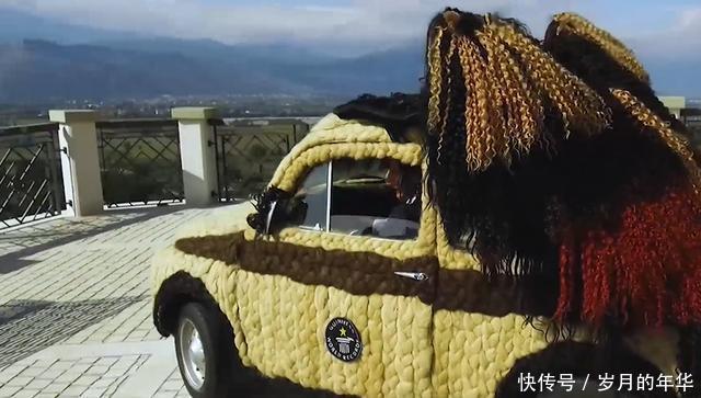 最贵汽车美容,美女花65万用头发包爱车,葛优看了想打人
