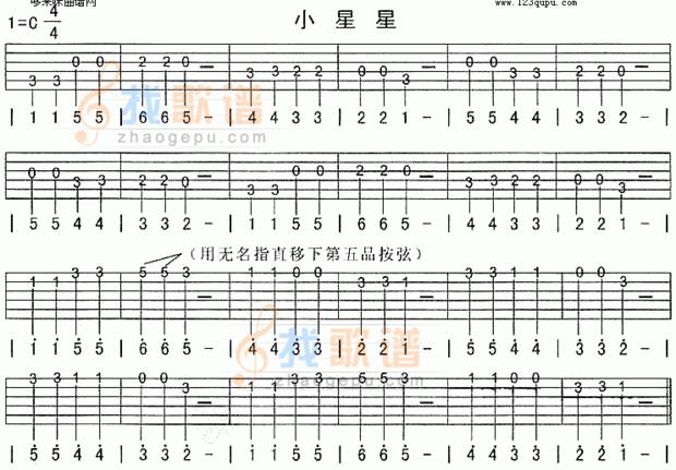 球全世界最最最简单的吉他谱