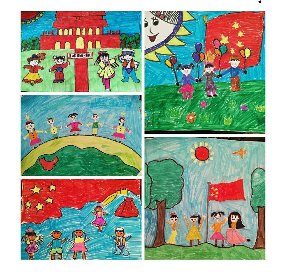 """拜兴幼儿园开展""""民族团结一家亲,共画一幅团结画""""为主题的绘画活动"""