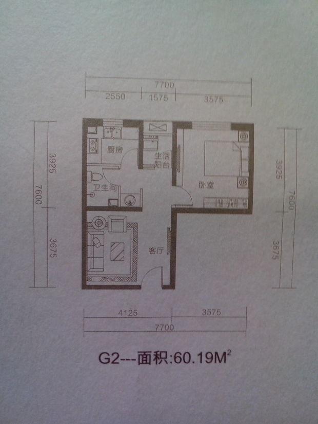 一室一厅 60平米的房子如何装修设计成一家三口居住该