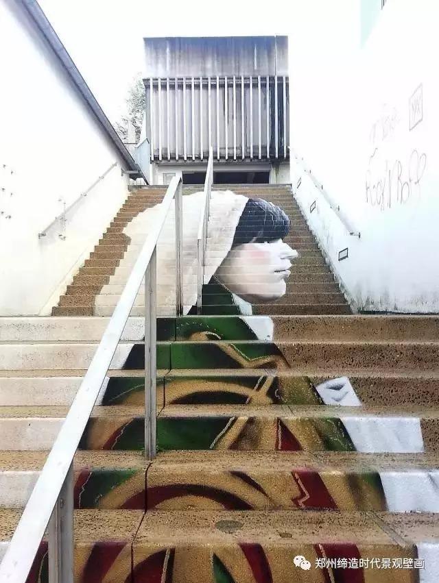 缔造时代创意手绘3d立体画楼梯,看过的人都会记住这图片