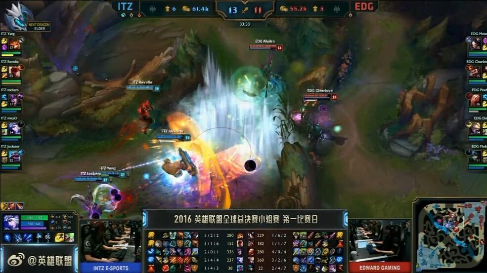 LOL S6总决赛 EDG首秀不敌外卡战队Intz