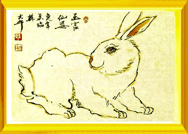 小白兔是怎么画的小白兔樊大牛画的