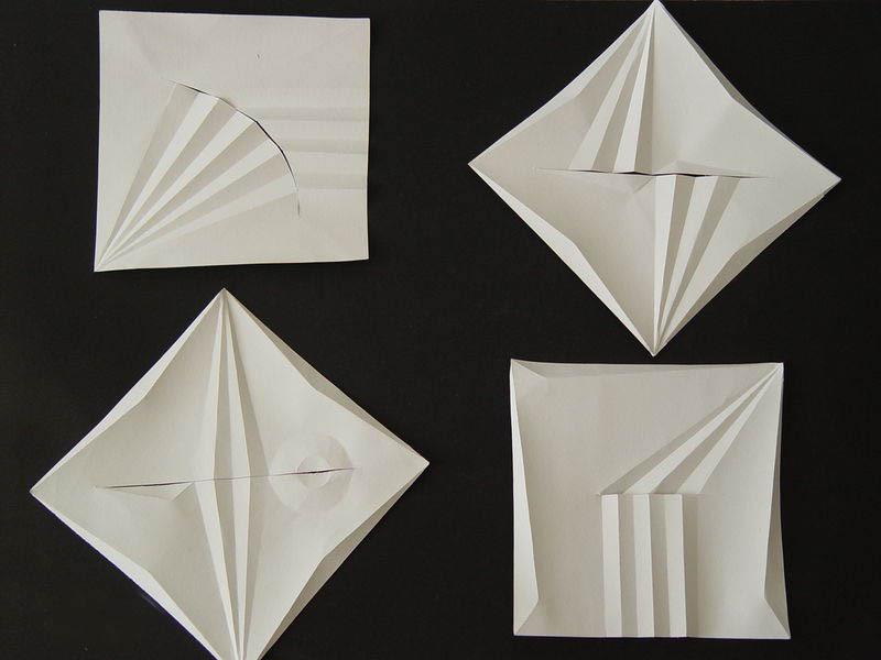 立体构成折纸_立体构成折纸步骤图_立体构成作品
