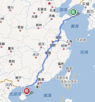 滨海至淮安高速路线图