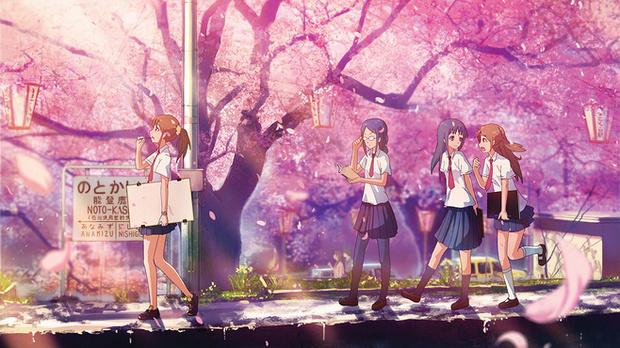 卡通樱花树怎么画-日本樱花树简笔画|彩铅樱花树画法|丙烯怎么画樱花