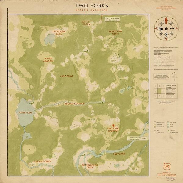 实体版附赠的地图