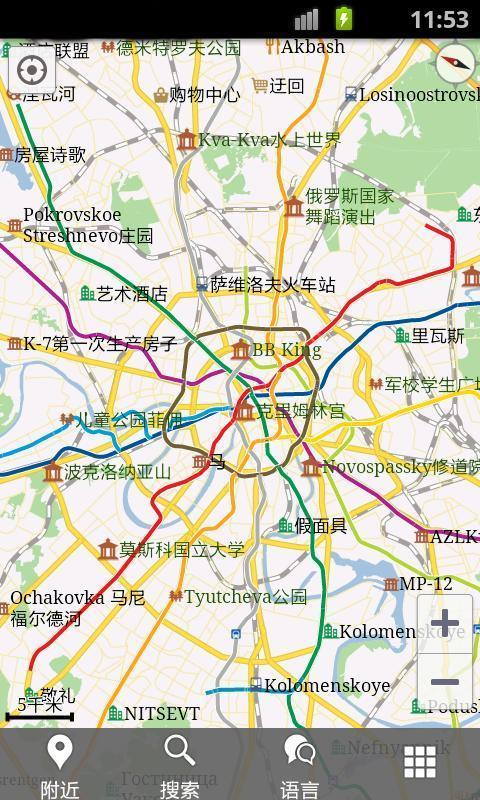 斑马地图莫斯科(来自:)