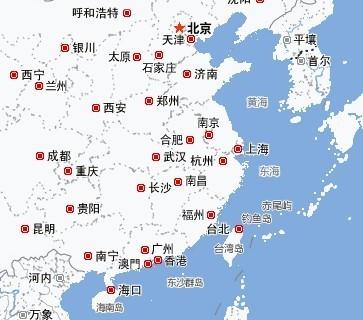 中国地图省轮廓