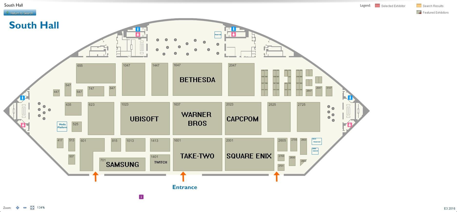 E3 2016展厅布置平面图