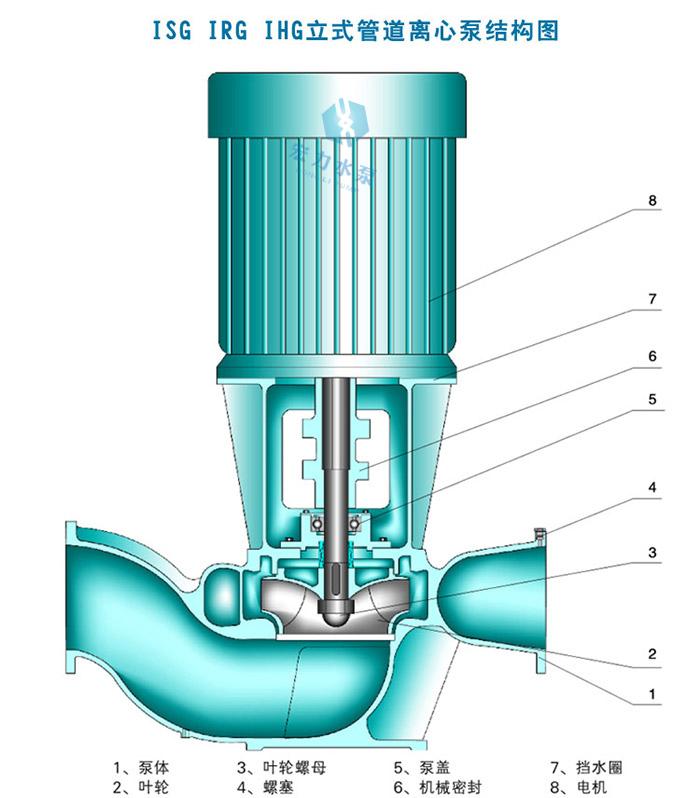 isg立式管道泵结构图