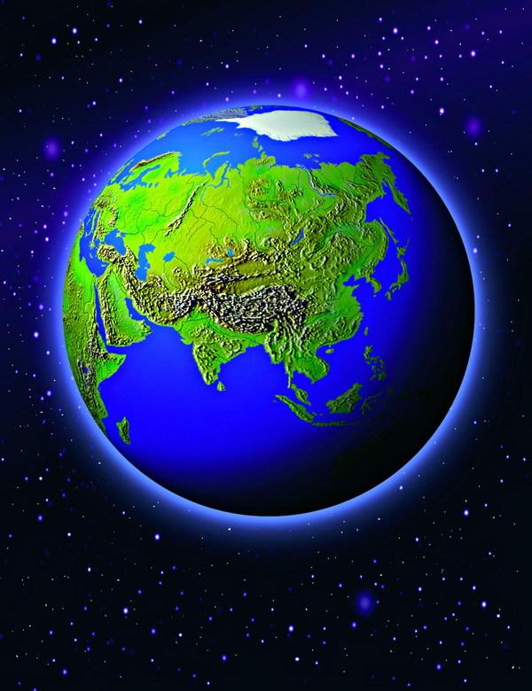 km地球矢量图