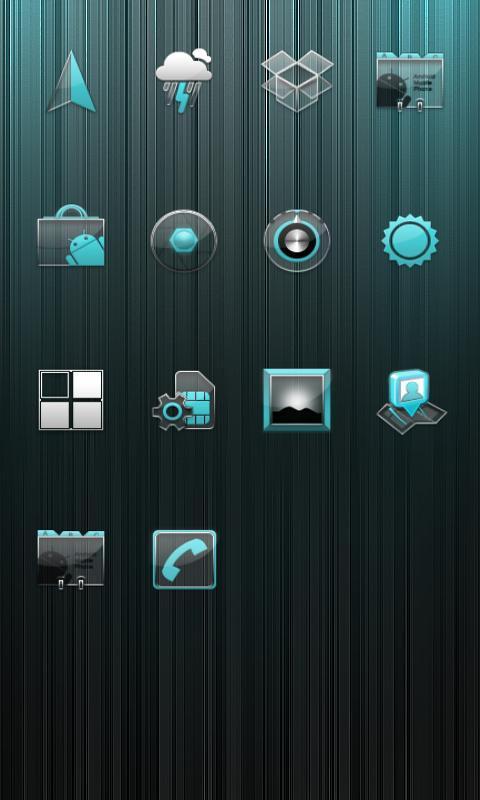 蓝色水晶 小米主题_360手机助手