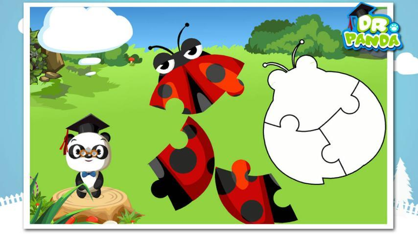 数数熊猫博士正在寻找的小动物有几只.学习数数,数字和分类.