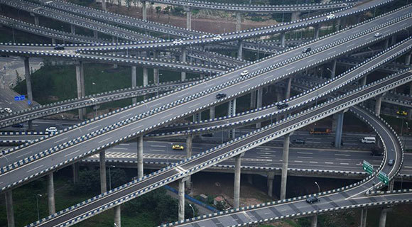 """重庆主城""""最复杂""""立交桥完工"""