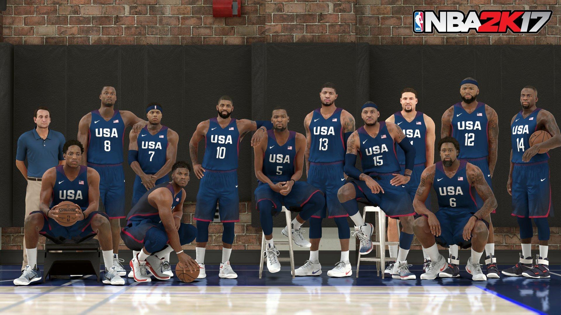 《NBA 2K17》美国国家队阵容照
