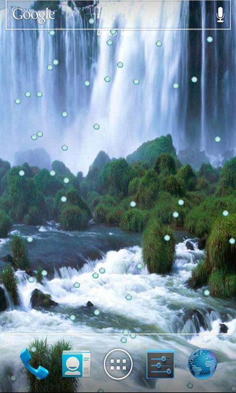 3d风景瀑布桌面动态壁纸,高清柔和的动感风景瀑布画面让您手机更加