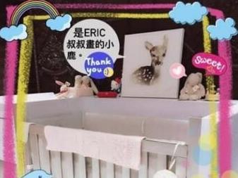林心如把女儿的婴儿房布置成这样简直太美了