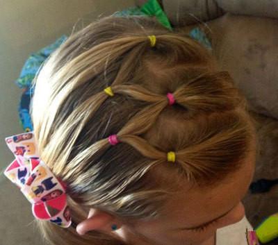 儿童扎头发教程,家有女儿的就给她这么扎~太稀饭了!图片