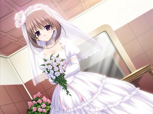 求穿着婚纱的动漫人物图片