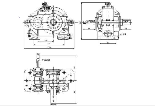 求一份一级圆柱齿轮减速器装配图,cad文件