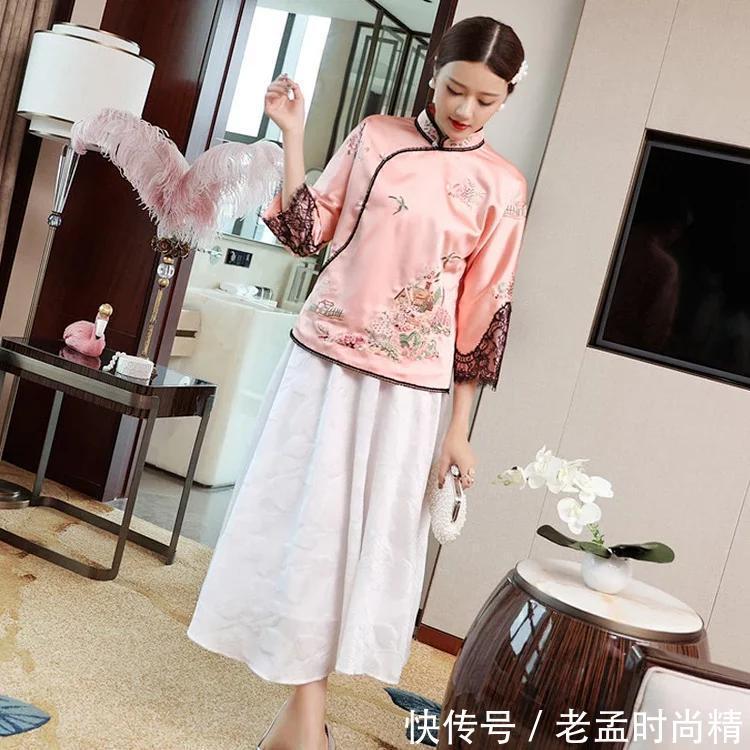 值得珍藏女性刺绣旗袍, 很显中国风的民族服!