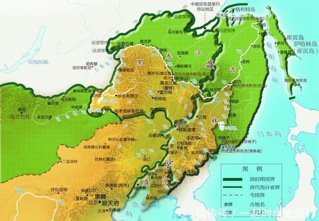 俄国地图上必须以中国地名标注的地方,炎黄子孙必须牢记的历史!