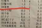 餐馆菜单竟收费1元