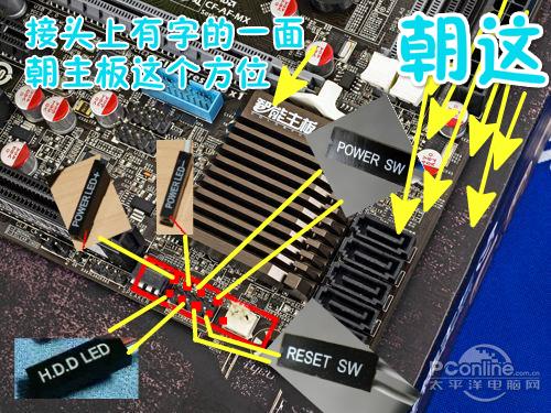七彩虹战斧C.A75K V15主板接机箱线路图
